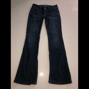 Hudson boot cut 26 dark blue denim jeans stretch
